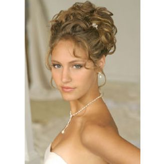 Curly updo wedding hair pictures 1