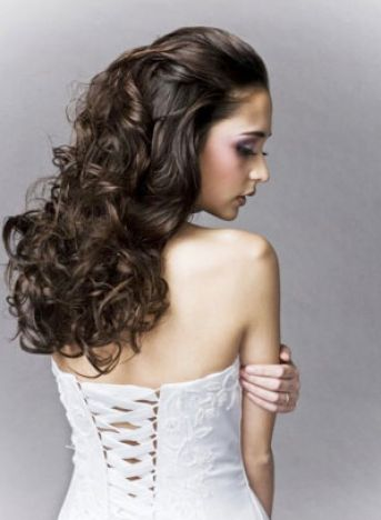 Curly wedding hairstyles for medium length hair pictures 1