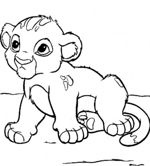 coloring pages baby animals - photo#6