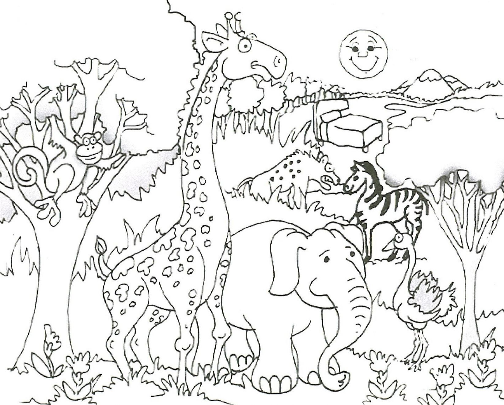 cute animals coloring pages images - photo #38