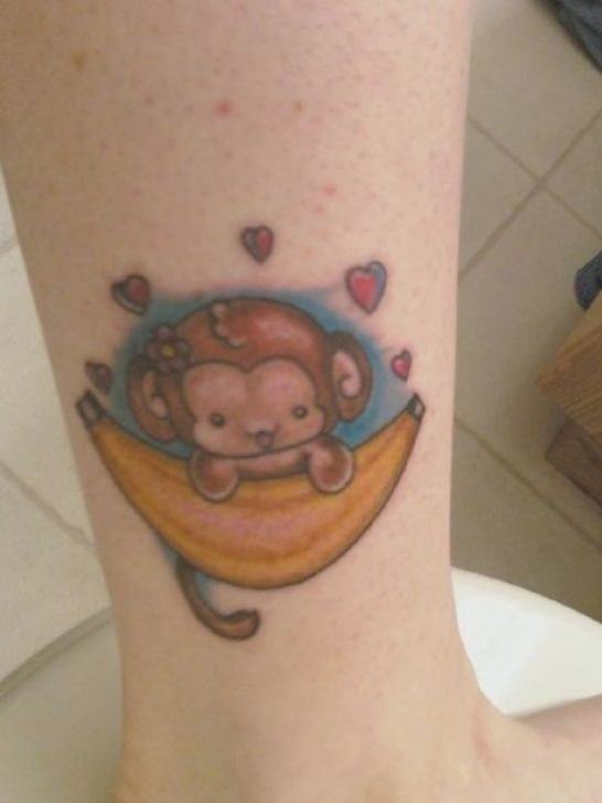 Pin cute baby monkey tattoos pictures 2 on pinterest for Baby monkey tattoos