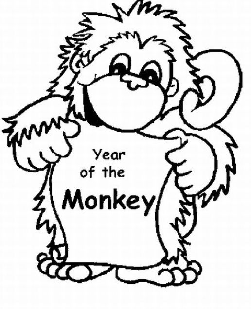 Cute Baby Monkey Coloring Sheets Coloring Pages