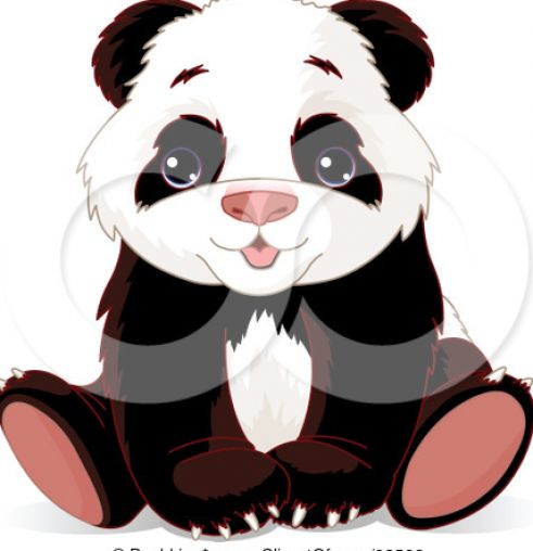 How to draw a cute baby panda - photo#17
