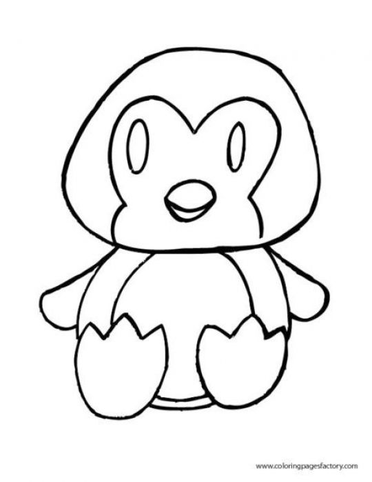 penguin color page - cute penguins colouring pages sketch coloring page