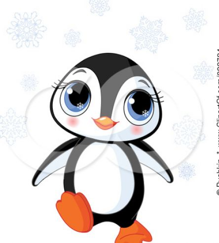 Cute Baby Penguin Coloring Pages #1