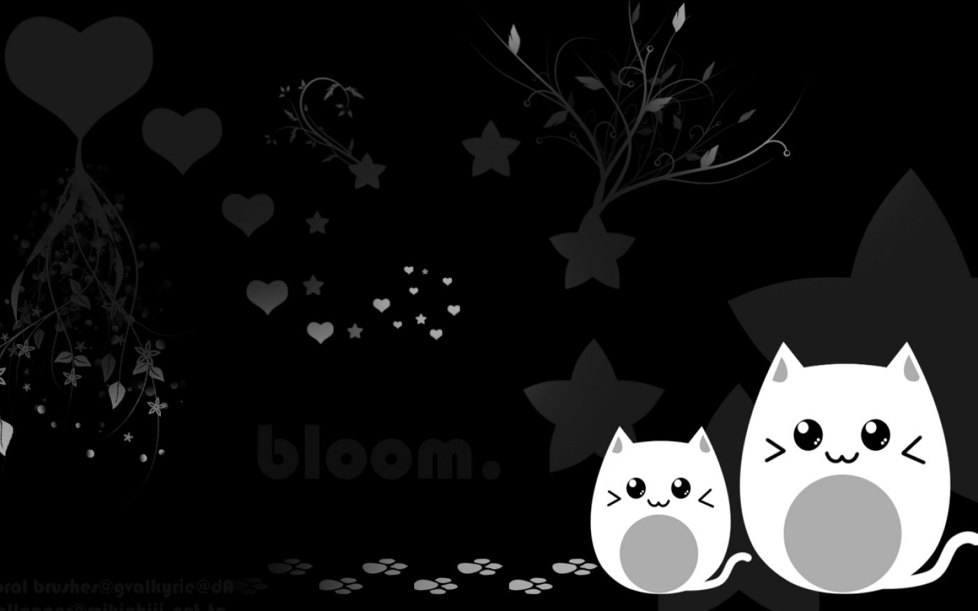 Cute black and white wallpaper pictures 1
