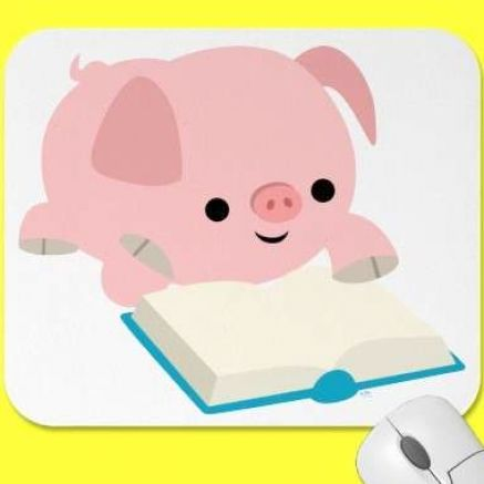 Cute cartoon animals reading