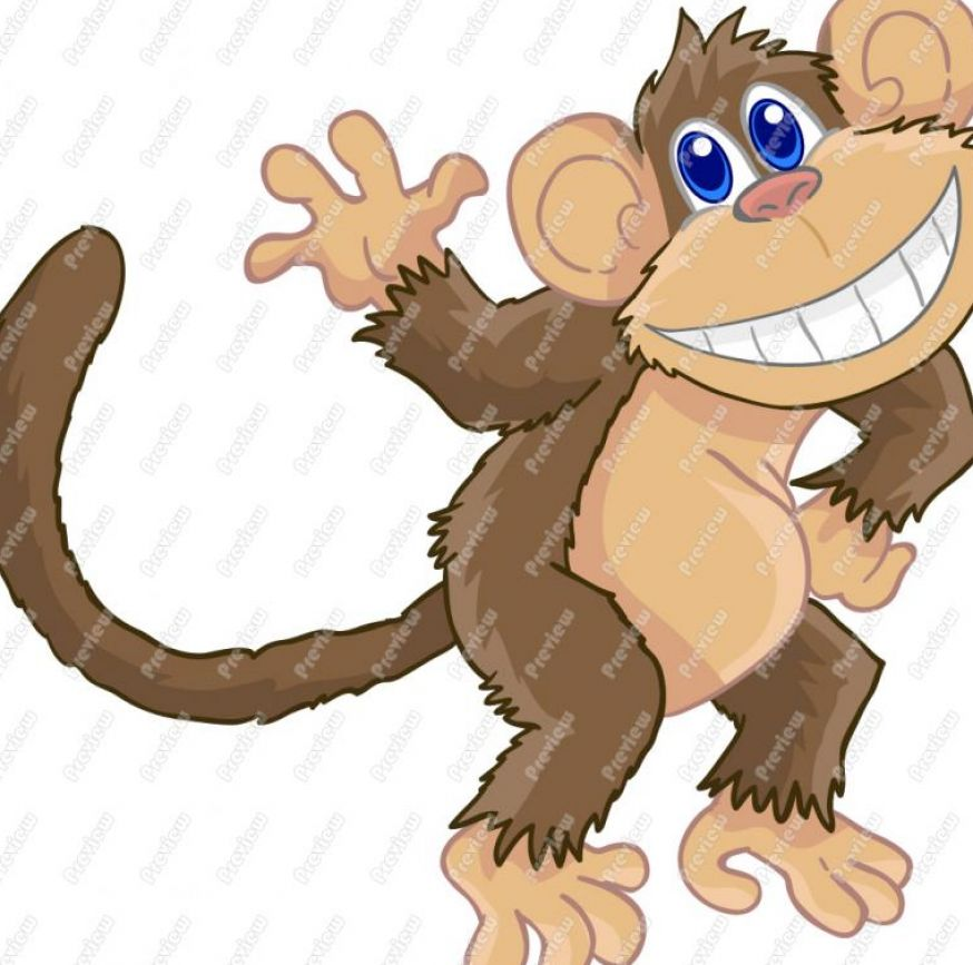 Cute cartoon monkey clip pictures 1