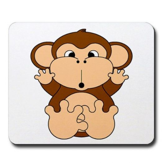 Cute cartoon monkey love - photo#1