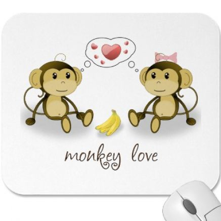 Cute cartoon monkey love - photo#2