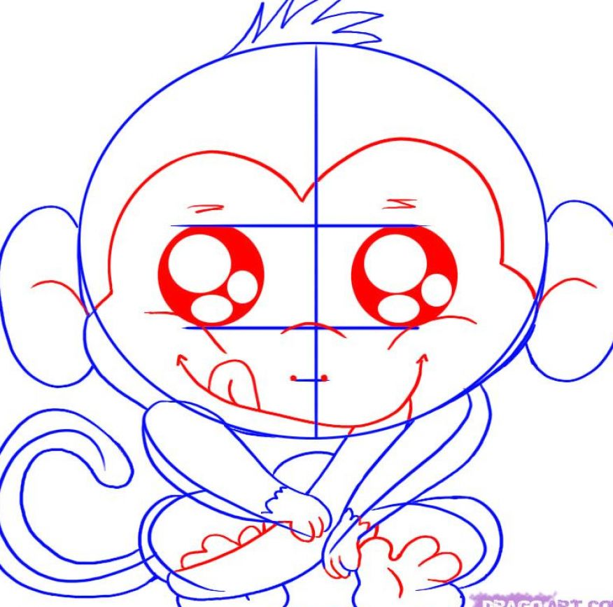 Cute cartoon monkey with big eyes pictures 2