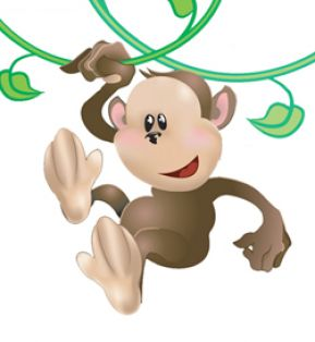 Cute cartoon monkey love - photo#24