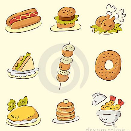 Cute animated food with faces for Animation cuisine