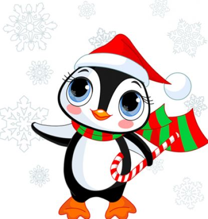 Cute christmas penguin pictures 1