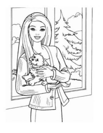 Christmas coloring dog page print christmas puppy coloring
