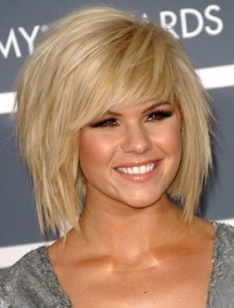 Cute hairstyles with layers and side bangs pictures 2