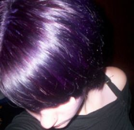 Dark brown hair color with purple pictures 4