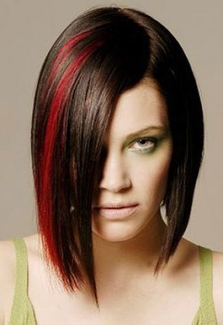 Dark red brown hair with highlights pictures 2