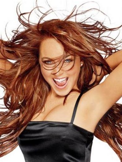 Lindsay Lohan Natural Red Hair