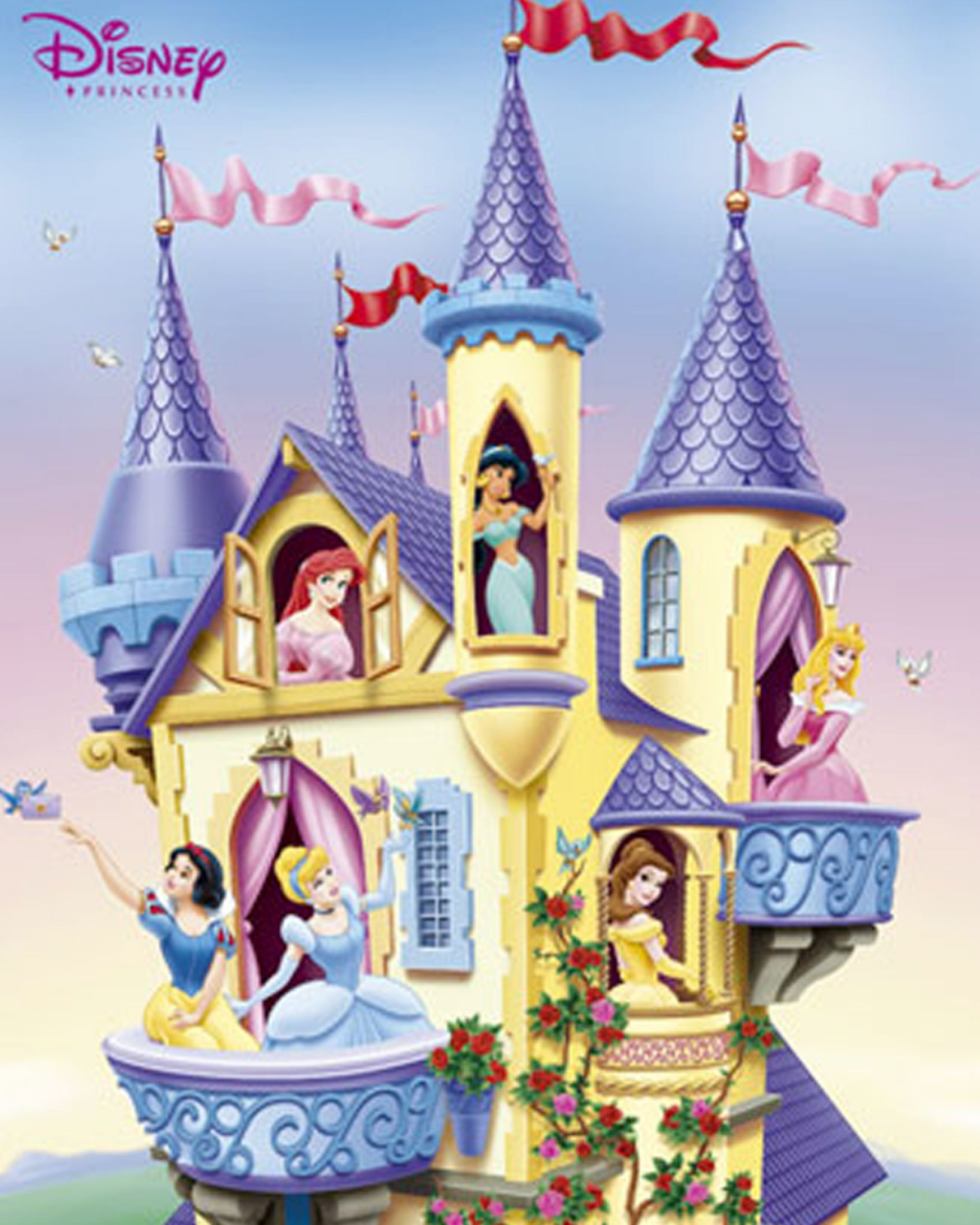 Disney princess castle background pictures 2