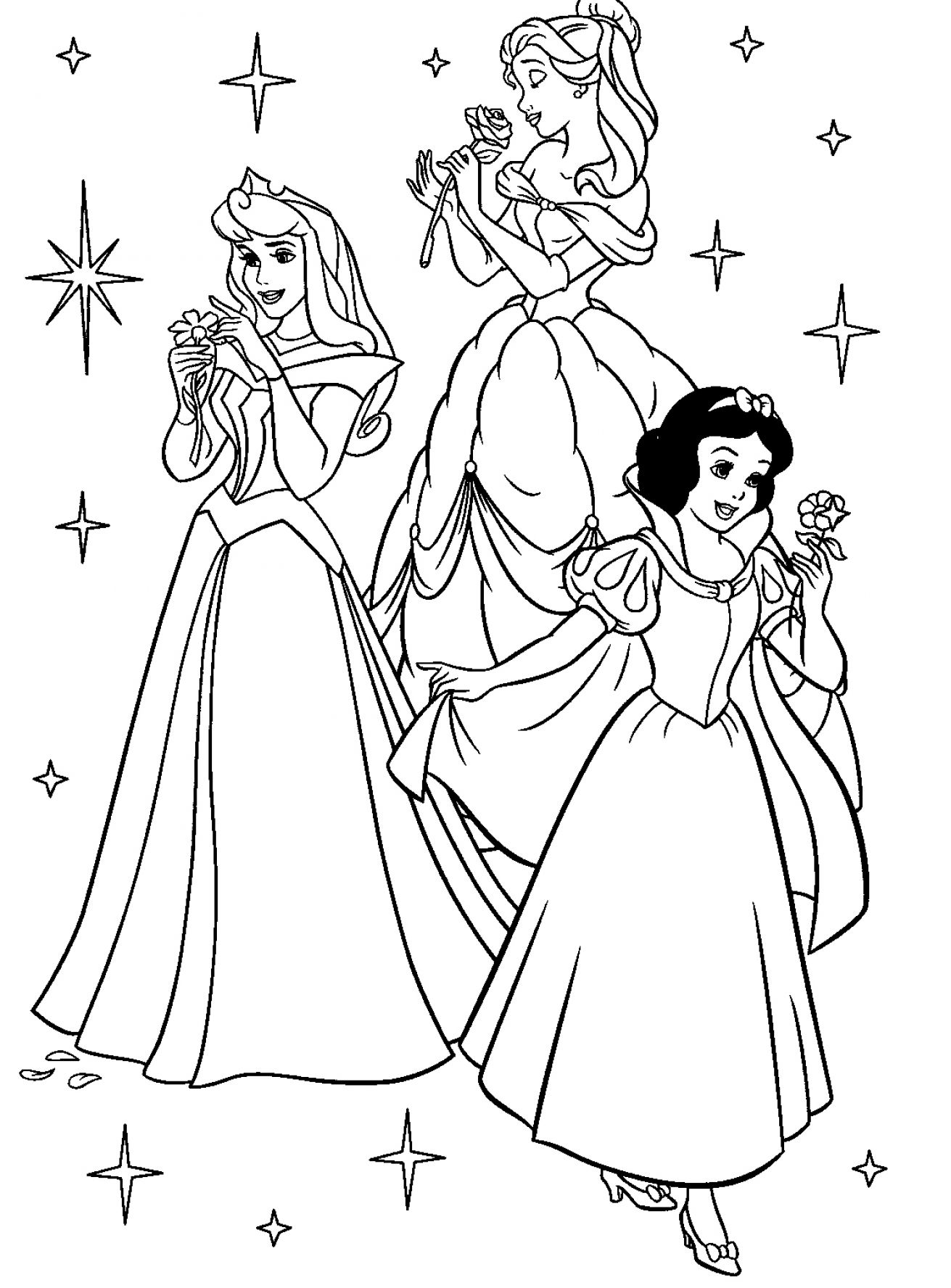 disney princess coloring book pages pictures 1