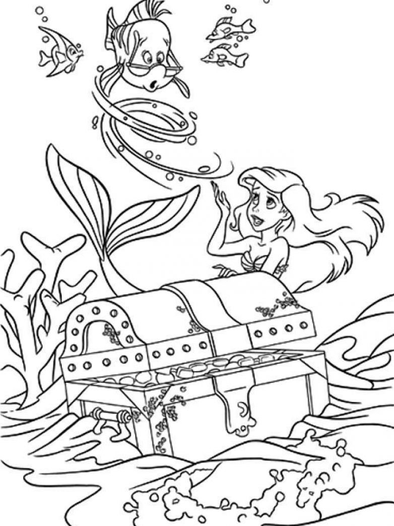 Ariel Bride Colouring Pages