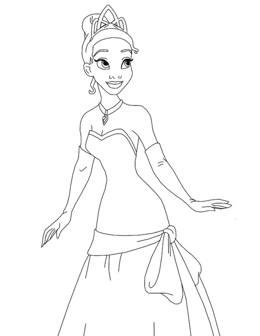 Free Coloring Pages Of Tiana And Naveen