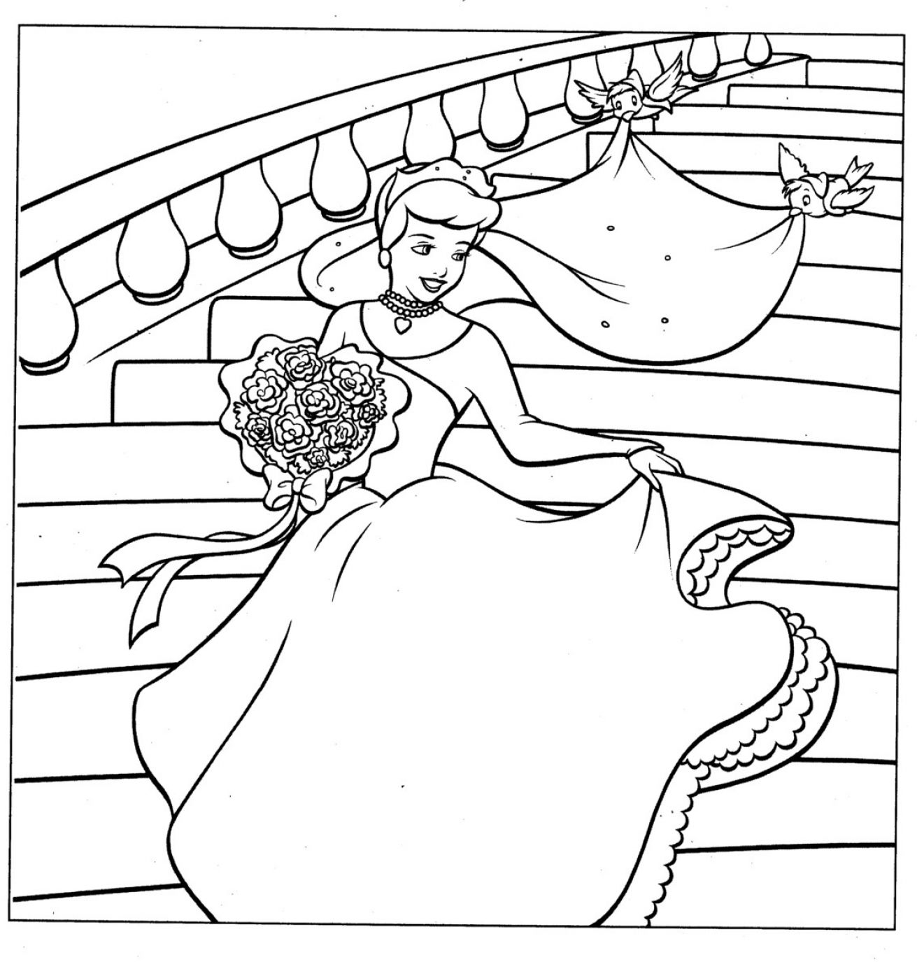 disney wedding coloring pages - photo#21