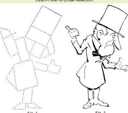 Easy cartoon to draw pictures 4