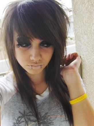 short medium hairstyles. emo hairstyles for girls with