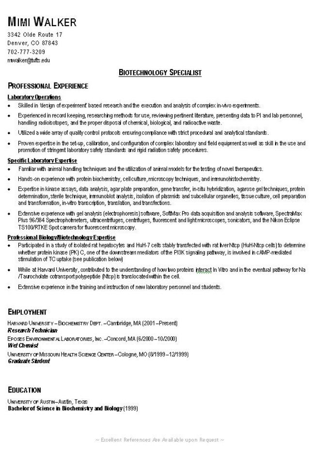 example of a good resume sample