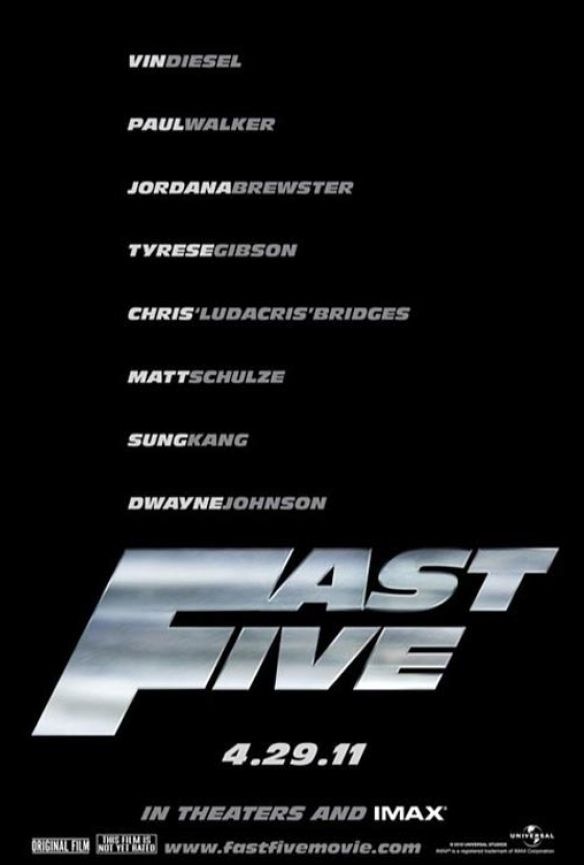 new fast five poster. Fast and Furious: Fast Five