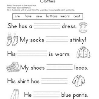Fill in the blank worksheets pictures 2