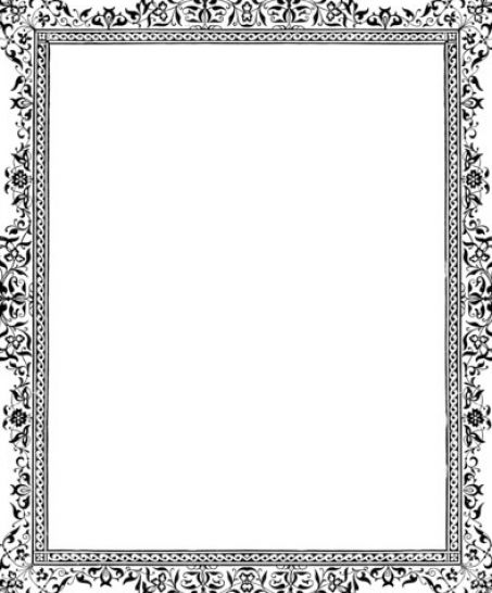This formal black and white border adds elegance to your project. Free to