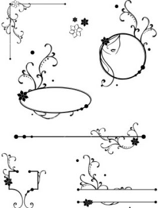 These free black and white Christmas clip art borders that