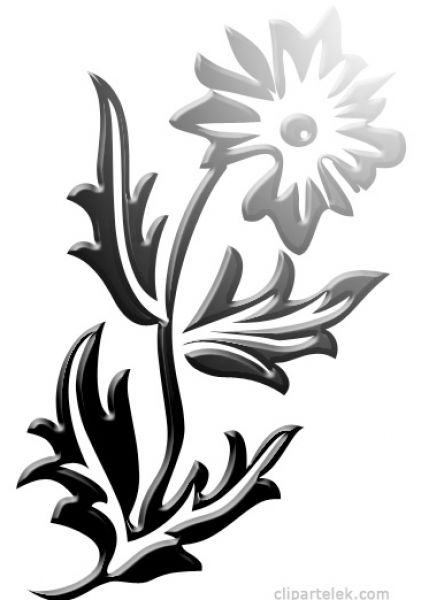 black and white flower clip art free. free flower clip art black and