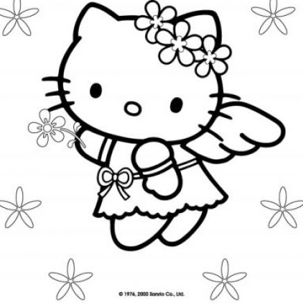 Free coloring pages of hello kitty pictures 1