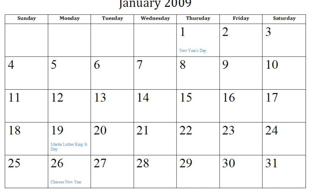Free 2011 word calendar blank and printable calendar templates