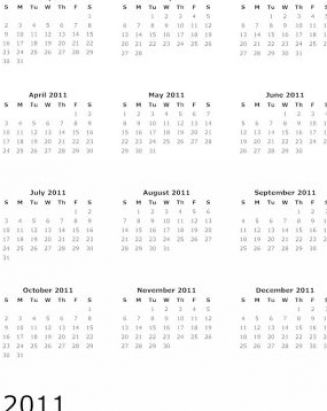 yearly calendar 2011. free yearly calendar 2011.