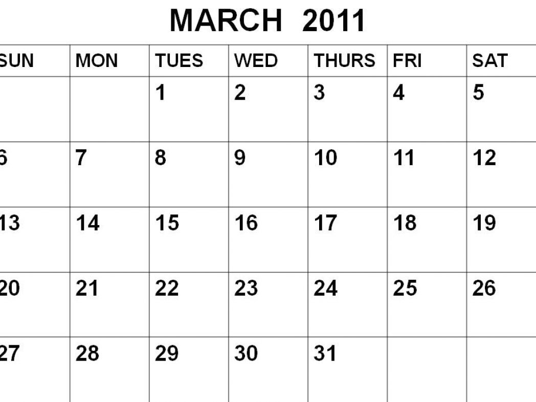 Free printable calendars 2011 march pictures 1