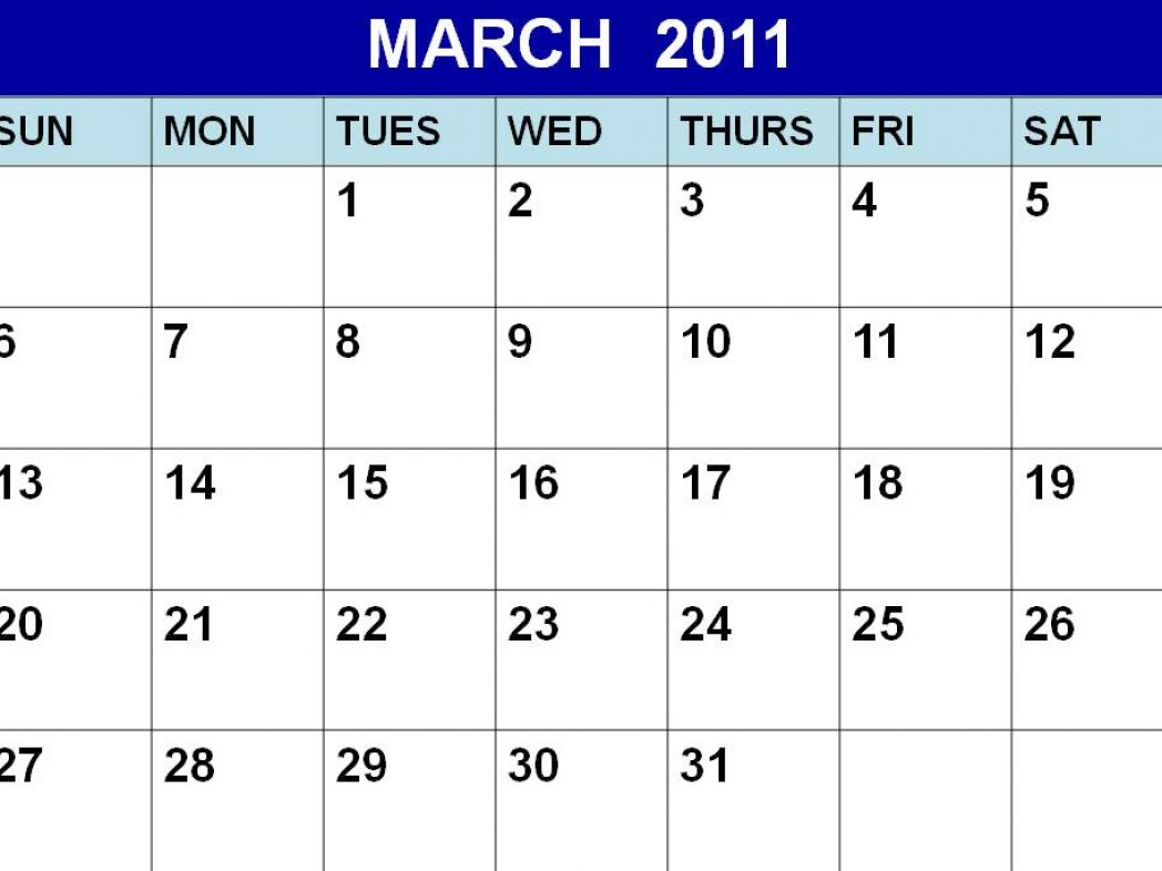 Free printable calendars for march 2011 pictures 1