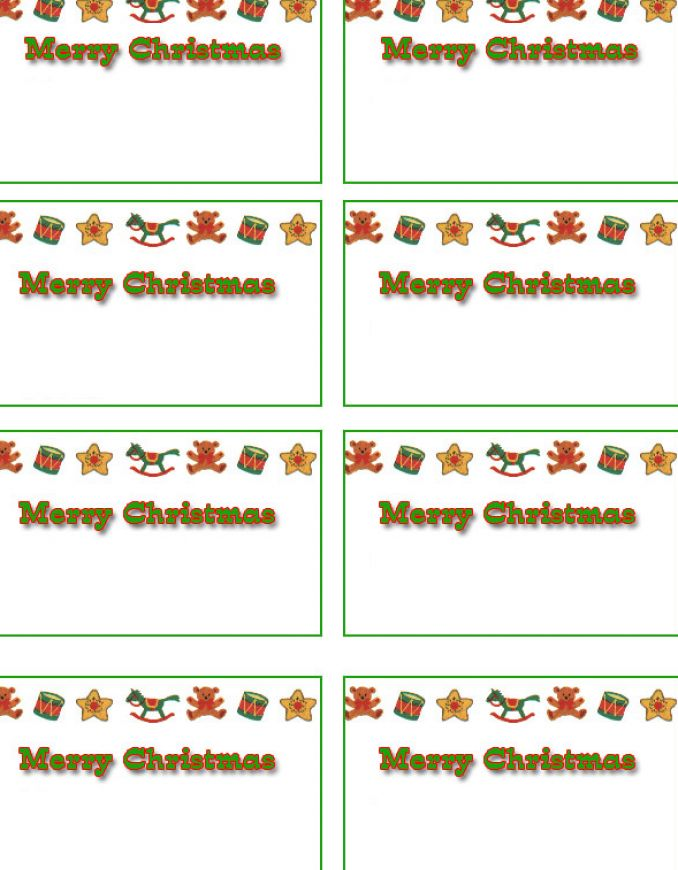 Free printable christmas labels pictures 4