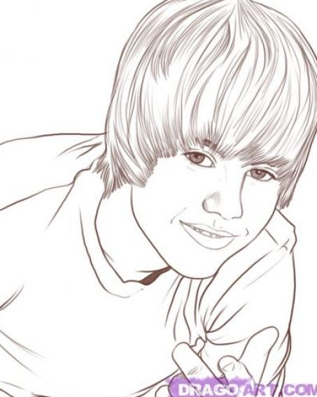 How to make justin bieber coloring pages for free