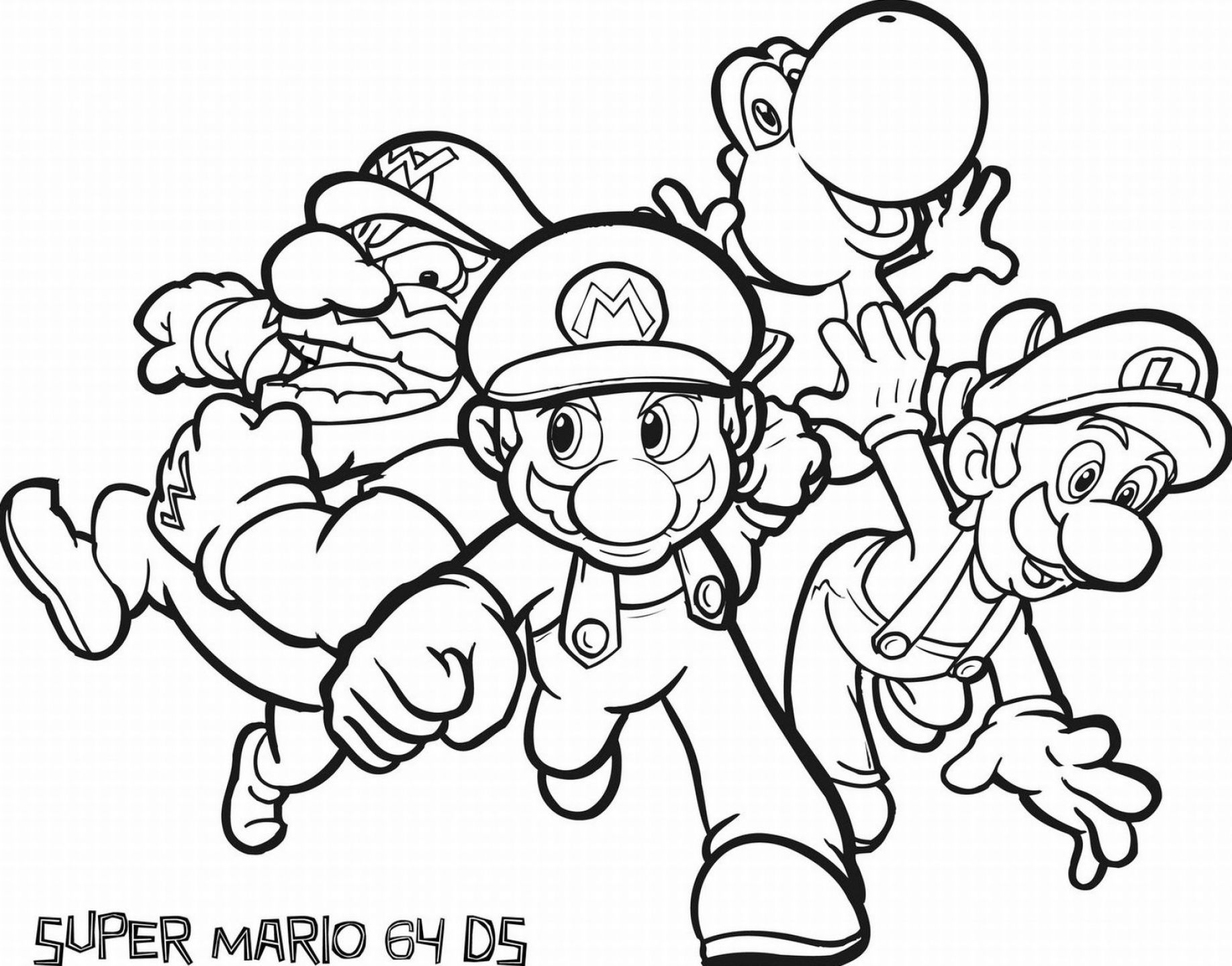 Free Printable Coloring Pages Of Mario Pictures 1