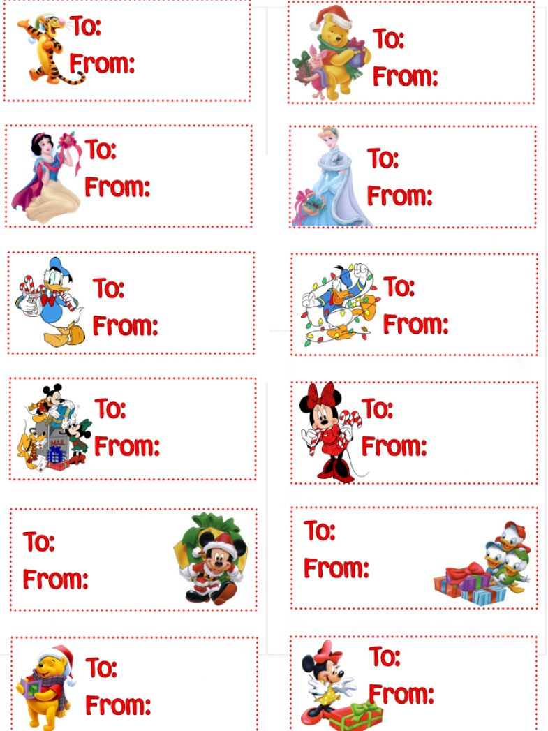 Free printable disney gift tags pictures 2