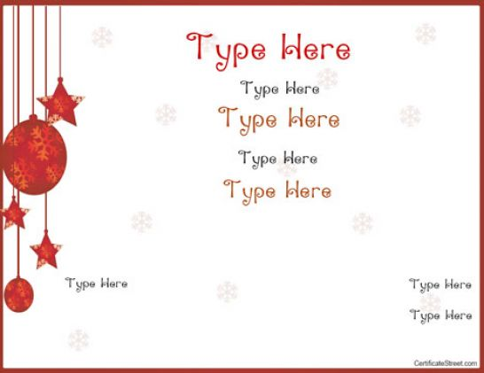 Free printable gift certificate template pictures 2