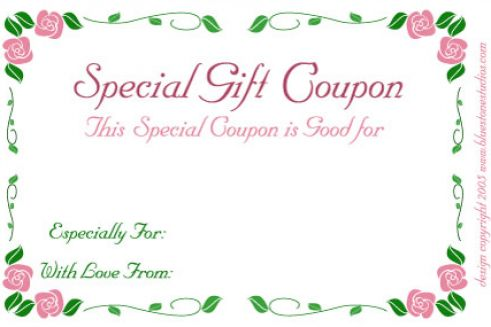 Printable Wedding Gift Card Free : Free printable gift certificates pictures 3