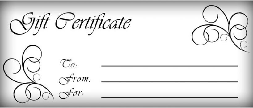 Free haircut voucher template software free download for Haircut gift certificate template