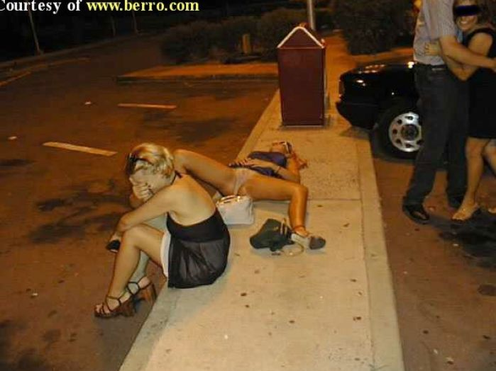 Funny Drunk Girl Passed Out