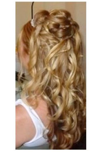 Hair half up half down curls pictures 1